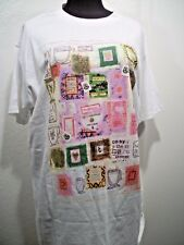 Vintage Pepe Jeans London Womens T Shirt sz OS/L Retro 1990's Cups of Tea