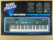 1983 Korg POLY-61 Synthesizer Synth vintage print Ad