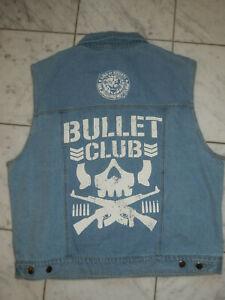 New Japan Pro Wrestling Bullet Club Denim Vest NJPW AEW ROH OMEGA BUCKS 2XL NEW