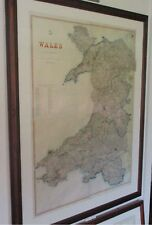 Wales. antique map.1863