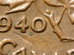 1940 cent, Zoell R63e variant, Doubled 0, nice condition