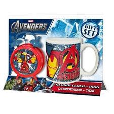 AVENGERS tazza mug in ceramica + sveglia a doppia campana da bambino