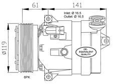 Kompressor Klimaanlage - NRF 32021