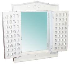 Wandspiegel Spiegel 63 x 70,5 weiß Fensterläden Holzspiegel Holz shabby KMH®