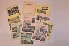 VINTAGE 1969 TS HAMBURG CRUISE SHIP TRAVEL AGENT PREVIEW PICTURE FOLDER-10 PAGES
