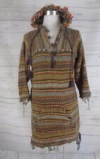 Women's Boho Jayli Baja Hoodie Pullover with Front Pocket 3/4 Sleeve, Size LG