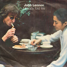 "JOHN LENNON - Nobody Told Me (1983 VINYL SINGLE 7"" DUTCH PS)"