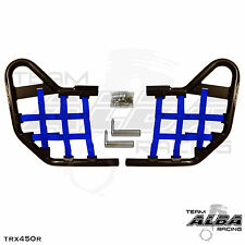 TRX 450R TRX450R Honda   Nerf Bars  Alba Racing   Black bar Blue nets  218 T1 BL