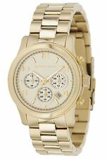 Michael Kors MK5055 New Mid-Sized Chronograph Golden Tone Mineral Crystal Watch