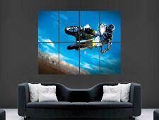 Motocross Jump Pared Imagen Poster Gigante Enorme