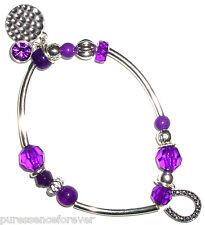 00004000 Avon Silver Plated Sentiment Bracelet: Luck (New/Boxed)