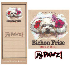 BICHON FRISE Funny Friends Magnetic NOTEPAD List Pad