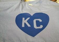 Heart KC royals or chiefs logo Tshirts white or light blue, red, gold, navy