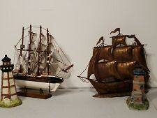 Light House Set, with sailing ships Miniature, Collectibles.