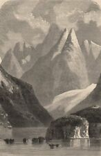 TIERRA DEL FUEGO. Conical peaks of Admiralty Strait. Chile 1882 old print