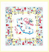 ReTrO Vtg Style CALIFORNIA VIBE CA Souvenir Flour Sack Kitchen Dish Tea Towel