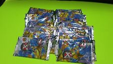 25 SEALED PACKS 1996 FLEER X MEN 6 CARDS PER  PACK MARVEL NO BOX WOLVERINE FOIL