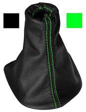 Soufflet de levier vitesse noir 100% CUIR coutures vertes pour PEUGEOT 307