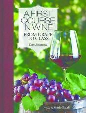 A First Course in Wine: From Grape to Glass, Amatuzzi, Dan, New Book