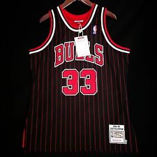 100% Authentic Mitchell & Ness Scottie Pippen Bulls Pinstripe Jersey Size 44 L