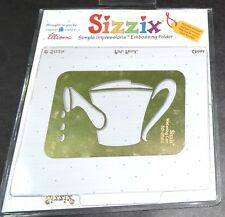 Sizzix Brass Stencil Watering Can Template Burnish Emboss Paper Scrapbook Cards