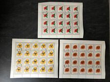 Polen Polska 1966 komplette Bogen 1696-1698 Gartenblumen, gestempelt