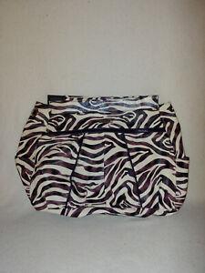 Women Miche Prima Jocelynne Shell Large White Purple Brown Animal Zebra Print