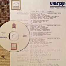 RADIO SHOW:ROCKABILLY 4/6/91 CARL PERKINS, JOHNNY CASH, BUDDY HOLLY,GENE VINCENT
