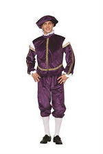 RENAISSANCE PRINCE ROYAL KING ADULT MAN SHAKESPEARE ROMEO COSTUME PURPLE 80222