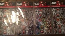 LOT OF (4) Star Wars Disney Stickers (4 Sheets/pack) Free Shipping New Sandylion