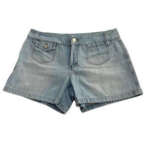 Womens Tommy Hilfiger Size 8 Light Wash Denim Shorts Mid Rise