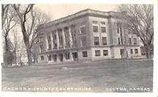 Holton Kansas Jackson Court House Real Photo Antique Postcard K38654