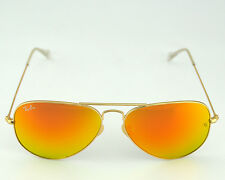 Ray-Ban RB3025 Aviator Flash Lenses112/69 Gold Frame / Orange Flash Lenses 58mm
