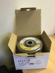 Dronco Medium Zirconia Aluminium Flap Disc 10x115mm G80 ArtNo5211387 NEW