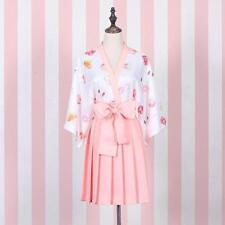 Lolita Girl's Pink WhiteFruits Print Dress Robes Kimono Cute 2 Colors Summer