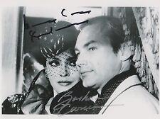 Barbara Carrera / Klaus Maria Brandauer Autograph  , Original Hand Signed Photo