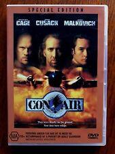 Con Air DVD Region 4 Disc VGC John Cusack, Nicholas Cage