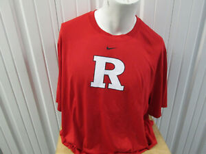 NIKE RUTGERS SCARLET KNIGHTS LOGO 3XL DRI-FIT RED T-SHIRT NEW W/ TAGS FOOTBALL