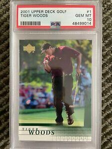 2001 Upper Deck Golf Tiger Woods #1 Rookie Card PSA 10 GEM MINT