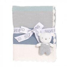 Silver Cloud Teddy Bear & Blanket Gift Set - Blue