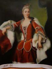 Dipinto Olio su Tela Ritratto Donna Quadro Dama Scena 50x60 compreso telaio 22