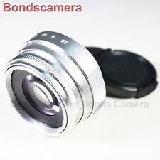 Mini 35mm F/1.6 C mount CCTV lens for APS-C sensor camera FX NEX M4/3 silver