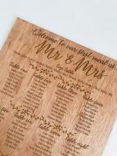 Personalised Wedding TABLE PLAN / WELCOME SIGN - RUSTIC WOOD