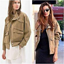 Zara Woman Authentic Khaki Studio Cotton Casual Coat M 2672/625