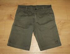 Superb Khaki Cotton VOI JEANS Zip Straight Fit Jeans Shorts Size L , L 11 Grunge