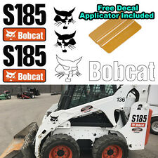 Bobcat S185 Skid Steer Set Vinyl Decal Sticker 5 PC SET + FREE DECAL APPLICATOR