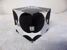 Space Age MCM Lucite Acrylic Resin Op Art Sculpture Storage Cube Enzo Mari ? 647