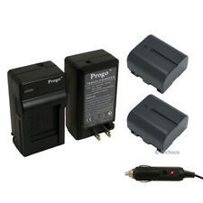 2 Battery + Charger Kit for JVC BN-VF707U Everio GZ-MG77 MG70 MG67 MG57 MG55