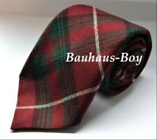NECK TIE TARTAN STUART OF BUTE MODERN HUNTING 100% PURE WOOL MADE IN SCOTLAND