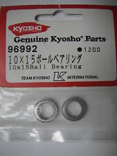 Kyosho Genuine Parts 96992 (10 x 15mm Bearings) for RB5, ZX-5 & more (Pk2)